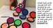 الاقراص الملونة لخصلات الشعر